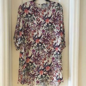 Zara flower shift dress